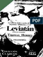 99453161 Leviatan Thomas Hobbes Version Impresa Completo