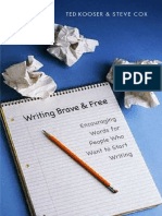 Writing Brave and Free Encouraging Words for People Who Want to Start Writing-Mantesh