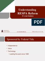 Understanding RESPA Reform