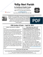 Bulletin for May 24 2016