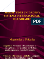 Magnitudes, Unidades y SI