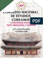 2º circular - X Congreso Nacional de Estudios Coreanos
