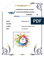 Trabajo de Biologia General - Las Vitaminas.