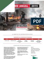Reporteros Sin Fronteras presentó su informe anual