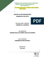 Formato Para Documentos Integradora
