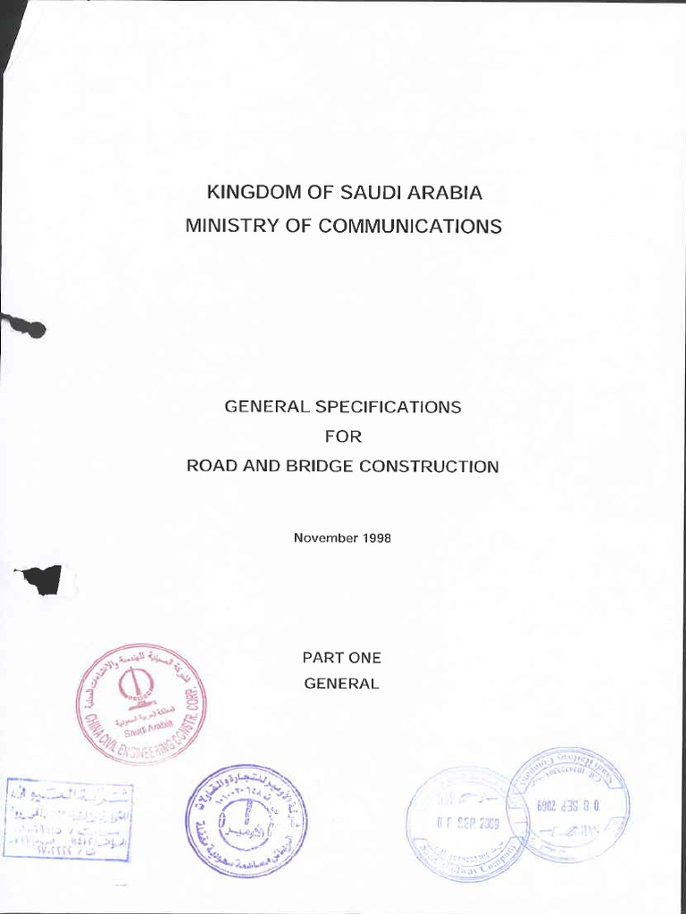 General Specifications for Road and Bridge