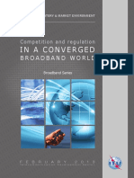 Competition and Regulation in a Converged Broadband World