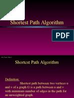 Shotest Path Algorithm Dijikstra's Algorithm