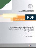 Informe Contraloría Irregularidades Daem Algarrobo