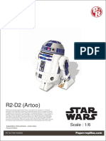R2D2 Starwars Papercraft