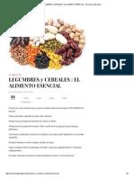 Legumbres y Cereales _ El Alimento Esencial - Barcelona Alternativa