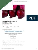 Dieta de Betabel o Remolacha - Barcelona Alternativa
