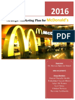 Strategic Marketing Plan for McDonald's 2016