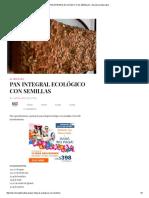 Pan Integral Ecológico Con Semillas - Barcelona Alternativa