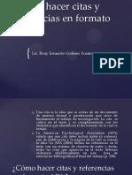 Cómo Hacer Citas y Referencias en Formato