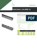 Ft UnicanalLiso&PerforadoCalibre14