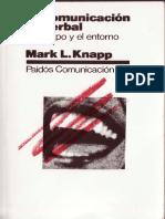 Knapp, Mark, La Comunicación No Verbal. CAP 1
