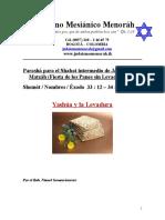 Parasha Para El Shabat Intermedio de Pesaj Yashua y La Levadura