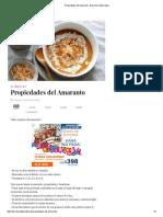 Propiedades Del Amaranto - Barcelona Alternativa