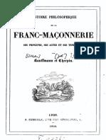 Kauffmann a.-sébastien - Cherpin J. - Histoire Philosophique de La Franc-maçonnerie