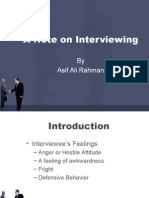 A Note on Interviewing