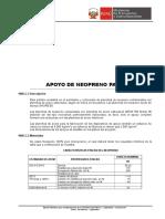 1006.C Apoyo de Neopreno Para Puentes