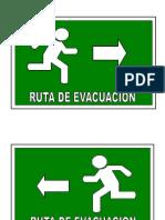 Fichas de Señalizacion de Evacuacion e Incendios