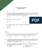 Entrance Question Paper