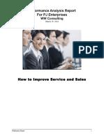 performance analysis report final pj enterprises