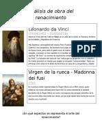 Análisis de Obra Del Renacimiento