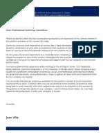 Juan Villa Cover Letter