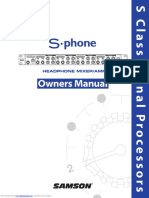 Samson S-phone Headphone amp Manual