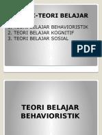 Teori Behavioristik, Kognitif Dan Sosial