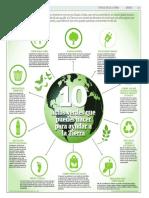 10 actos verdes que puedes hacer para ayudar a la Tierra