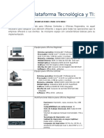 Plataforma Tecnológica y TI: