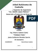 Desarrollo y Produccion de Minas de Carbon