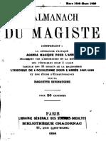 Encausse Gérard - L'Almanach Du Magiste 1898
