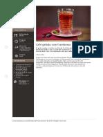 Cafe Gelado Com Framboesa