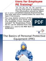 Basics of PPE Training