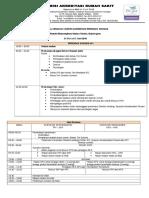 3. Jadwal Acara - Survei Akreditasi Program Khusus Rumkit Bhayangkara Wahyu Tutuko, Bojonegoro