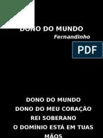 Slide Dono do mundo - Fernandinho