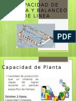 Capacidad de Planta y Balanceo de Linea