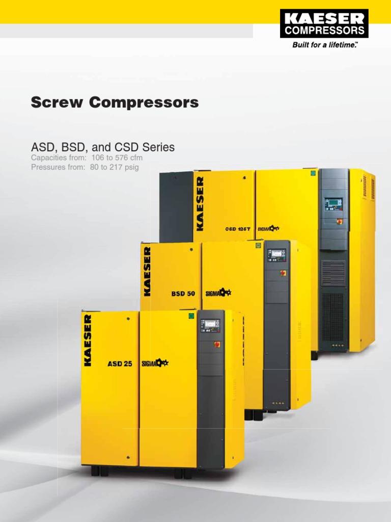 Kaeser Screw Compressors ASD, BSD, CSD Series   Gas Compressor   Clothes  Dryer