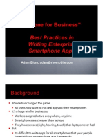 Best Practices in Writing Smart Phone Apps