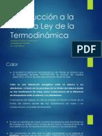 Introducción a La Primera Ley de La Termodinámica