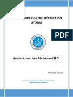 Manual de Usuario Admisiones-ESPOL