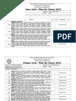 Plan de Clases 2014