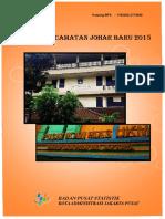 Statistik Kecamatan Johar Baru 2015