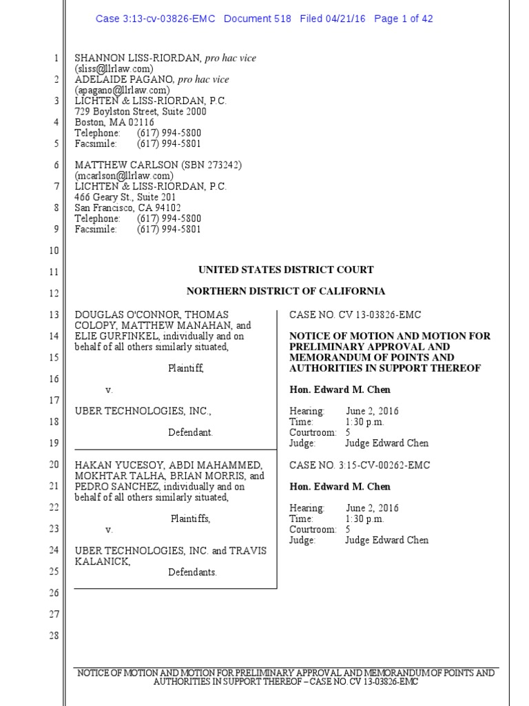 Uber Driver Lawsuit Settlement Discovery Law Uber Company