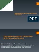 Intermediación Laboral y Tercerización